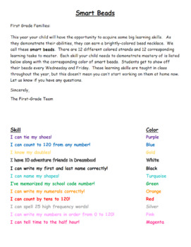 Brag Beads: Spanish/English and Editable!