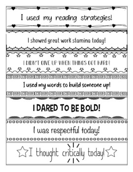 Brag Bracelets - Growth Mindset Phrases!