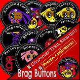 Brag Buttons - Character Traits