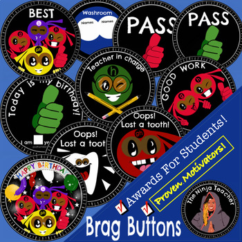 Brag Buttons - Personal Achievements
