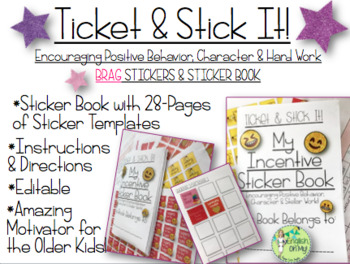 Brag Tags, Brag Stickers-Ticket and Stick It!-Classroom Ma