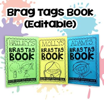 Brag Tag Book (EDITABLE & READY-TO-PRINT OPTIONS NOW AVAILABLE!)