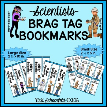 Brag Tag Bookmarks Scientists