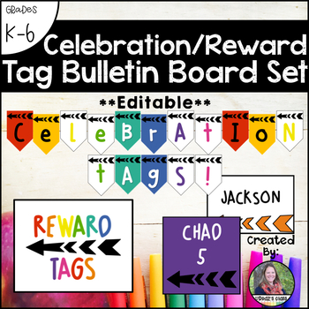 #HelloSummer Brag Tag Bulletin Board Set *Editable*