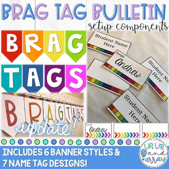 Brag Tag Bulletin Board Setup Components (Editable!)