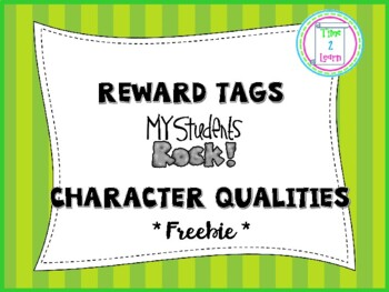 Brag Tag Character Qualities