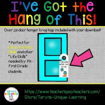 Brag Tag Door Hangers- Kindergarten and First Grade Version
