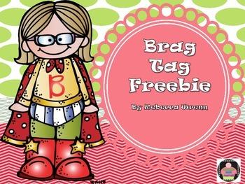 Brag Tag Freebie First Day of School
