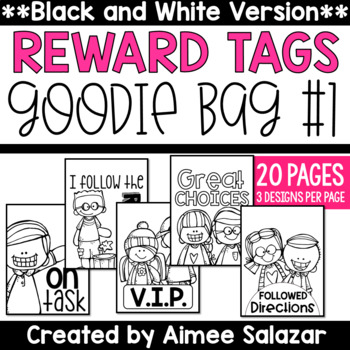 BLACK & WHITE Brag Tags {Goodie Bag #1)