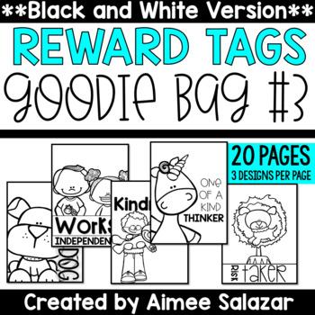 BLACK & WHITE Brag Tags {Goodie Bag #3}