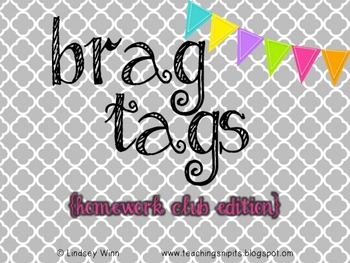 Brag Tag Homework Collection
