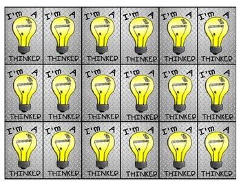 Brag Tag - I'm a Thinker!!