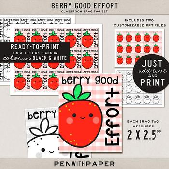 Brag Tag Kit: Berry Good Effort