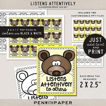 Brag Tag Kit: Listens Attentively
