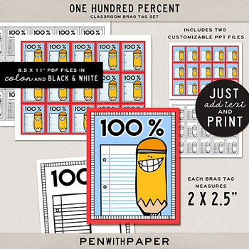 Brag Tag Kit: One Hundred Percent