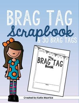 Brag Tag Scrapbook & 30 Brag Tags