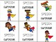 Brag Tag Speech Language Therapy Superhero Theme