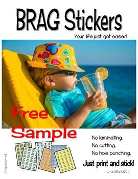 Brag Tag Stickers Free Sample