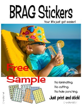 Brag Tag Stickers Free Sample