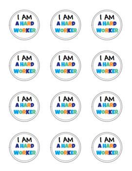 """Brag Tag Stickers, """"I am..."""""""
