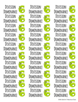 Brag Tag Stickers for Division Facts 0-12