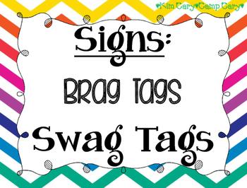 Brag Tag or Swag Tag Sign