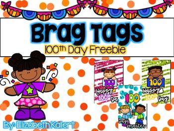 Brag Tags 100th Day FREEBIE!