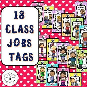 Brag Tags:18 Classroom Jobs