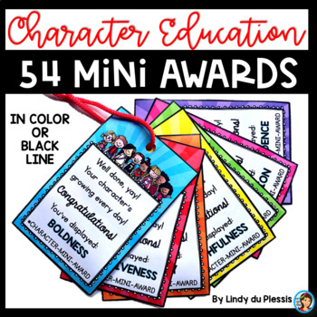 Brag Tags for Character Education