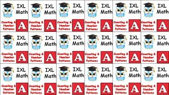 Brag Tags -- 1st Grade IXL Math ... Owl Theme