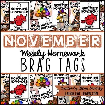 Homework Brag Tags: November