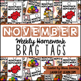 Homework Brag Tags: November