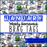 Homework Brag Tags: January