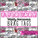 Homework Brag Tags: February