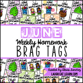 Homework Brag Tags: June