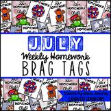 Homework Brag Tags: July