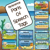 Brag Tags: 9 Parts of Speech Reference Tags