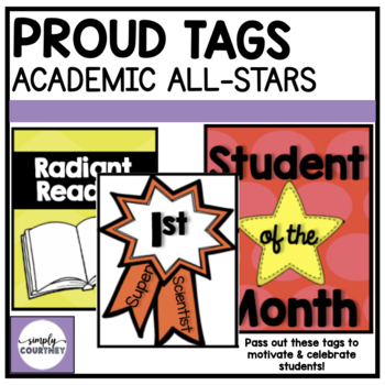 Brag Tags- Academic All-Stars