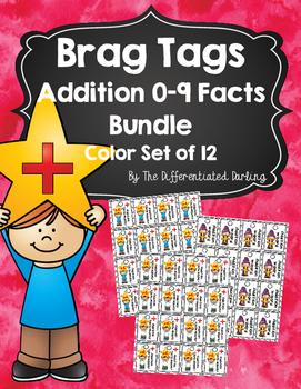 Brag Tags Addition Facts 0-9 Color Bundle