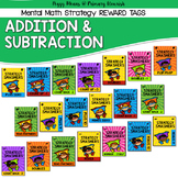 Brag Tags Addition & Subtraction - Super Hero Theme