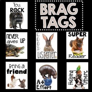 BRAG TAGS (Animal Friends Edition)