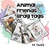 BRAG TAGS (Animal Friends Edition) | Digital Stickers | Di