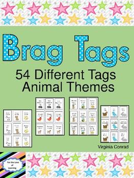 Brag Tags:  Animal Theme