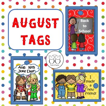 Brag Tags: August Back to School - Make a New Friend! Aug. 16th Joke Day
