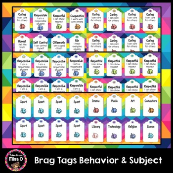 Behavior and Subject Brag Tags