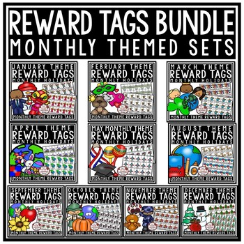 Holiday Brag Tags BUNDLE [Classroom Management- Monthly Themed Brag Tags]