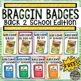 Back to School Braggin Badges FREEBIE | Reward Tags