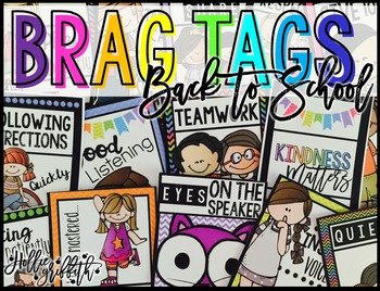 Brag Tags {Back to School, Rules, Procedures, Positive Behavior}