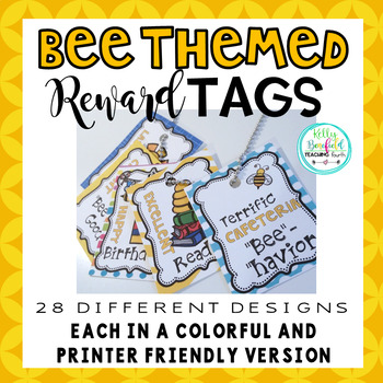 Reward Tags: Bee Themed