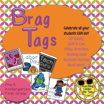 Brag Tags to Celebrate Success, Academic Goals, Holidays & Celebrations